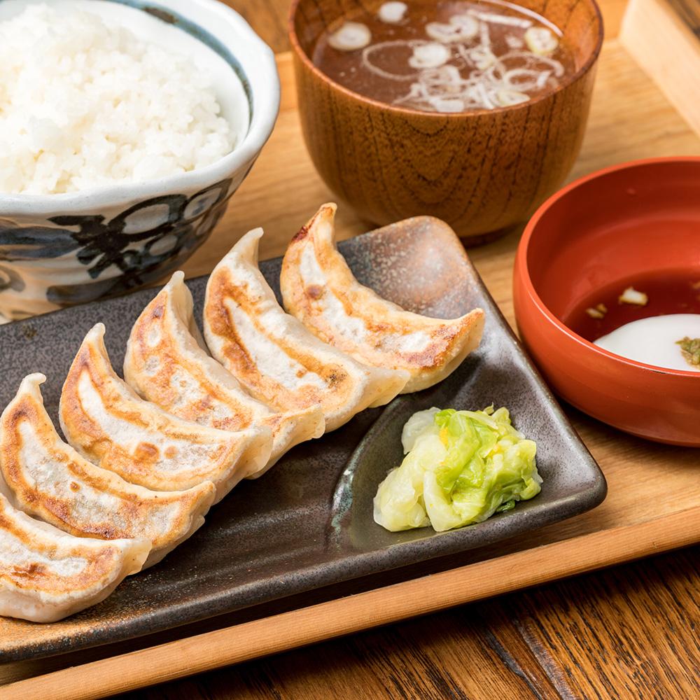 肉汁焼餃子定食