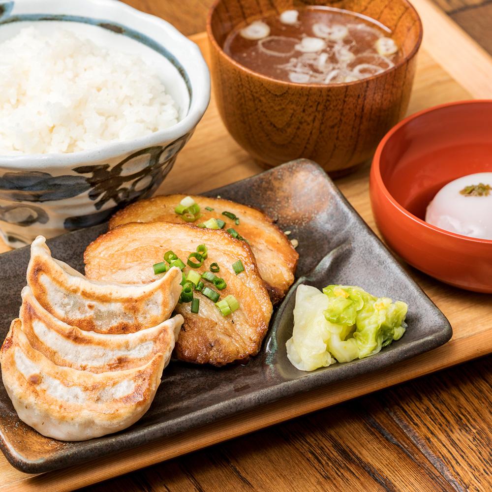 肉汁焼餃子&自家製炙りチャーシュー定食
