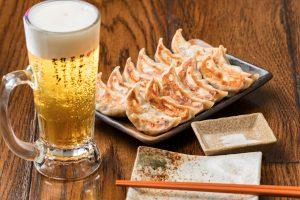 ダンダダンの肉汁焼餃子と生ビール
